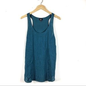 Mossimo   Art Deco embroidered tank top   L